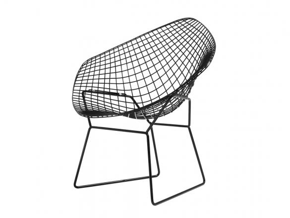 Diament Chair - čierna, čierny vankúš