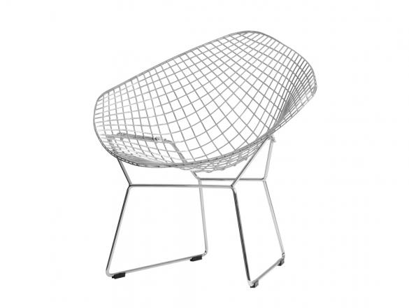 Diament Chair - striebro, biely alebo čierny vankúš