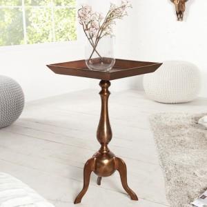 Barock stôl Jardin 55cm meď eckig