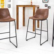 Barová stolička Django vintage hnedá železo