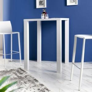 Barová stolička Milano - Leder biela
