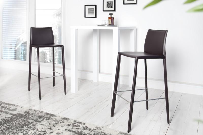 Barová stolička Milano - Leder coffee