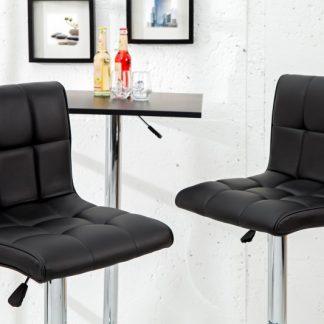 Barová stolička Modena 90-115cm čierna