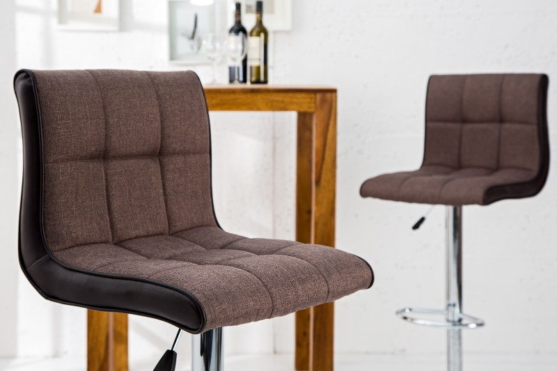 Barová stolička Modena 90-115cm hnedá