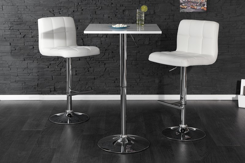 Barová stolička Move biela höhenverstellbar