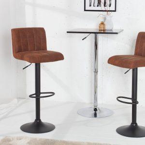 Barová stolička Portland vintage hnedá