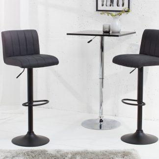 Barová stolička Portland vintage sivá