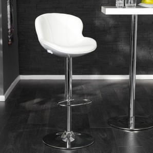 Barová stolička Speedchair biela biela