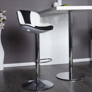 Barová stolička Speedchair biela čierna