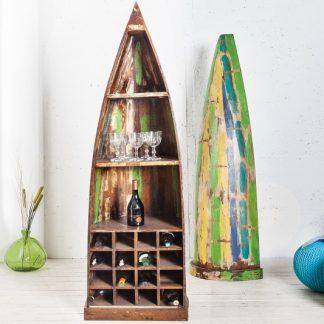 Boots--Regál na víno Borneo 190cm recyklované drevo
