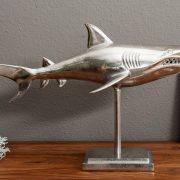 Deko Hai 70cm Standfuß strieborná