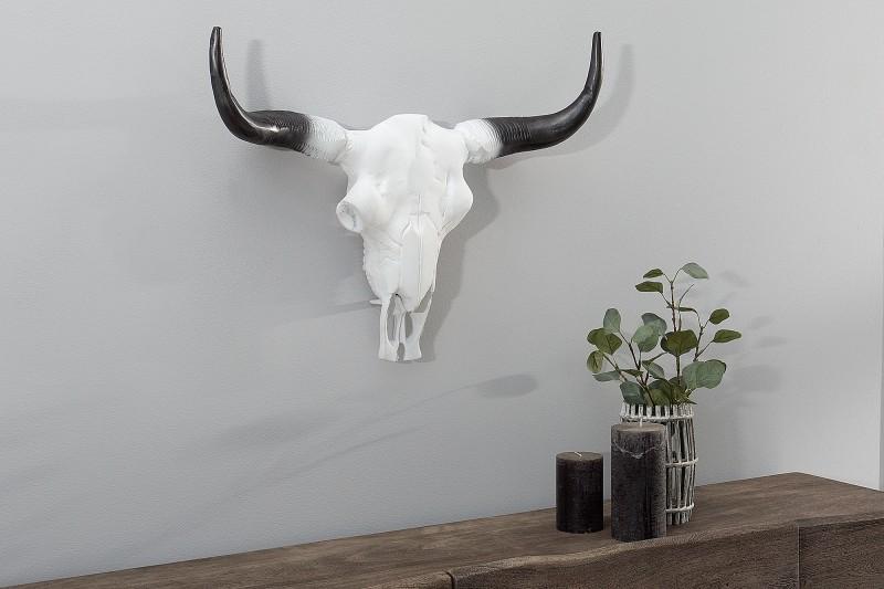 Deko Lebka El Toro 50cm biela čierna