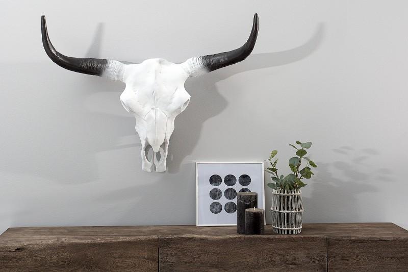 Deko Lebka El Toro 70cm biela čierna