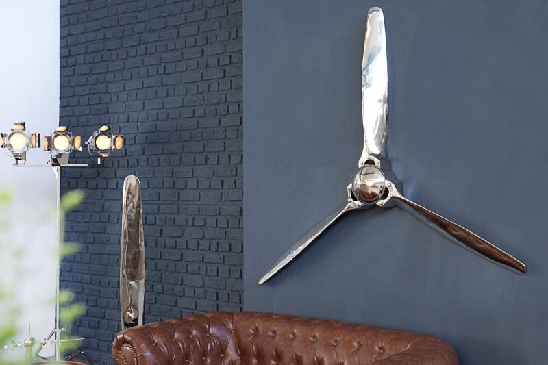 Deko Lodná skrutka Screw III 140cm strieborná