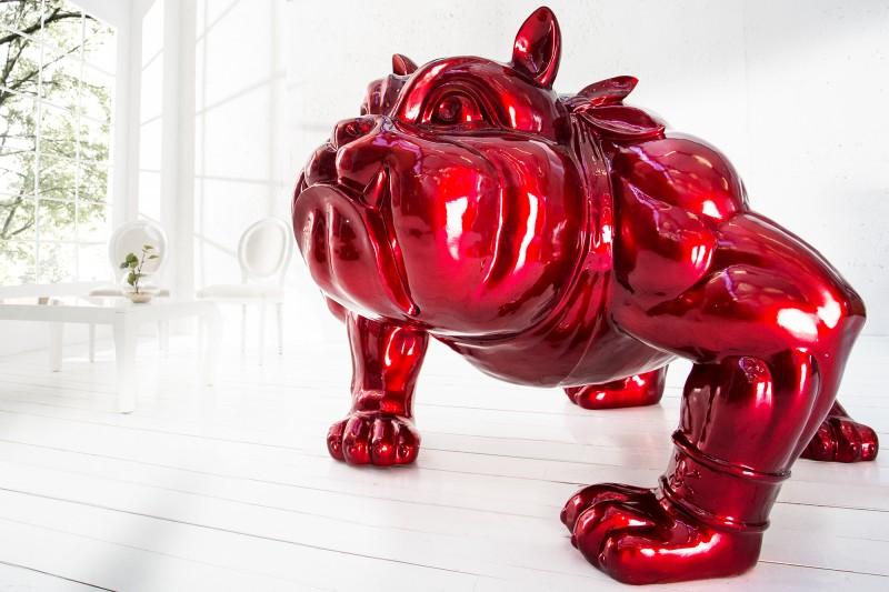 Deko Soška Bulldogge 150cm červená