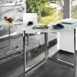 Eck-Písací stôl Big Deal biela