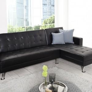 Ecksofa Chaise Lounge čierna