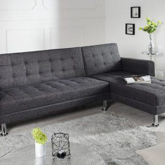 Ecksofa Chaise Lounge látka antracit