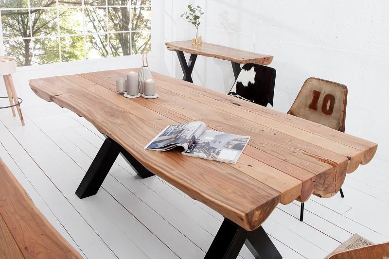 Jedálenský stôl Amazonas 200cm Baumstamm agát