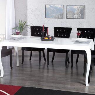 Jedálenský stôl Barocco biela 180cm