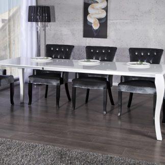 Jedálenský stôl Barocco biela / Auszug