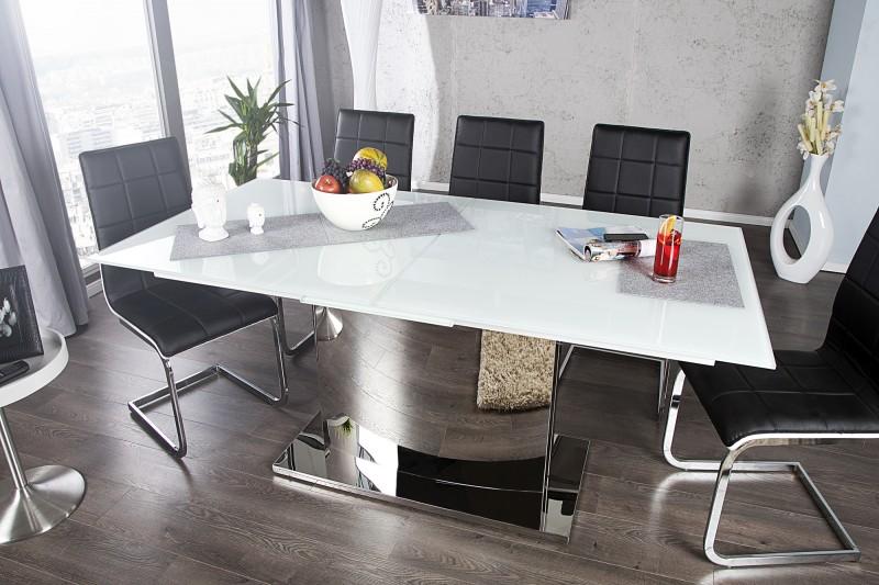 Jedálenský stôl Concord 180-220cm biela