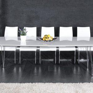 Jedálenský stôl Continental 170-270cm biela hochgl.