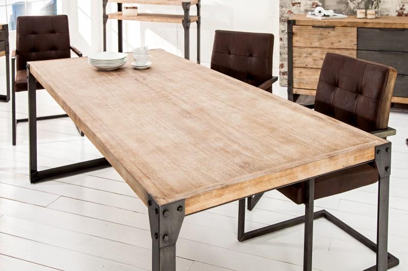 Jedálenský stôl Factory 200cm agát Teak šedý