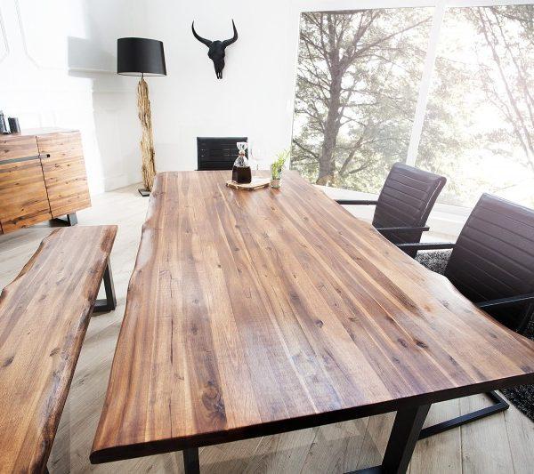 Jedálenský stôl Genesis 180cm agát antracit