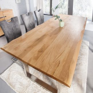 Jedálenský stôl Genesis 180cm dub 35mm ušľachtilá oceľ