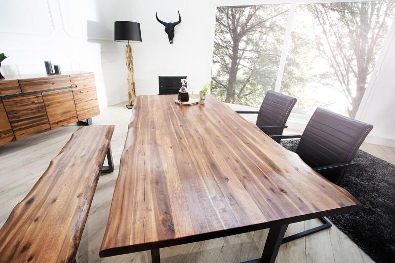 Jedálenský stôl Genesis 200cm agát antracit