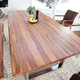 Jedálenský stôl Genesis 200cm agát ušľachtilá oceľ