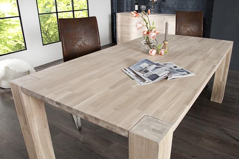 Jedálenský stôl Giant 200cm dub biela olejované