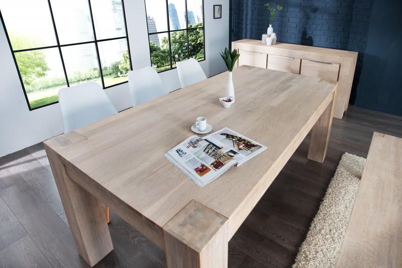 Jedálenský stôl Giant 200cm dub biela vápnená