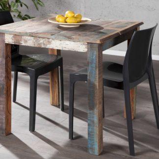 Jedálenský stôl Jakarta 80x80cm - recyklované drevo