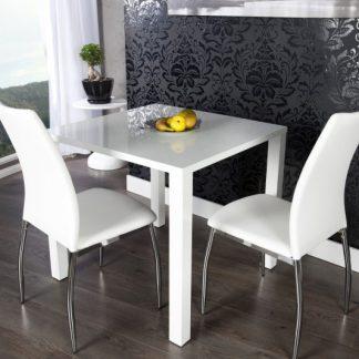 Jedálenský stôl Lucente II 80cm biela vysokolesklá