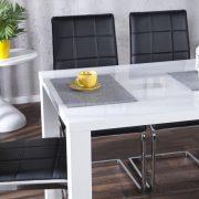 Jedálenský stôl Lucente biela vysokolesklá 140cm