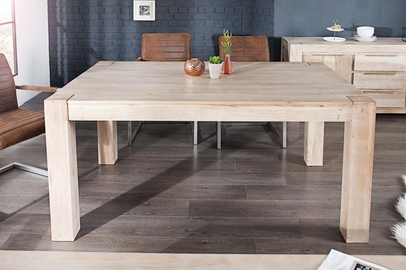 Jedálenský stôl Makassar 160cm agát white wash