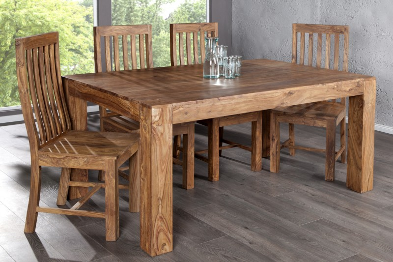 Jed lensk st l makassar pr rodn 160cm poto - Modele table a manger en bois ...