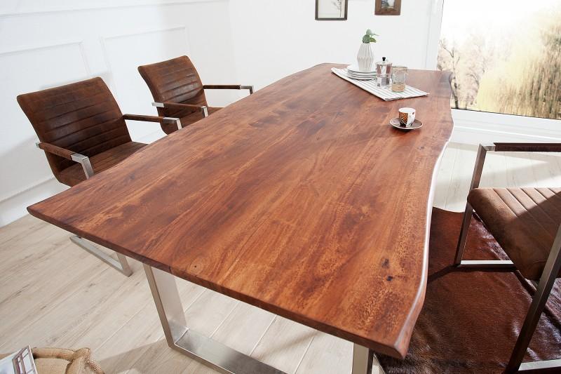 Jedálenský stôl Mammut 200cm hnedá 26mm