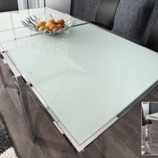 Jedálenský stôl Modular 90-180cm chróm biela