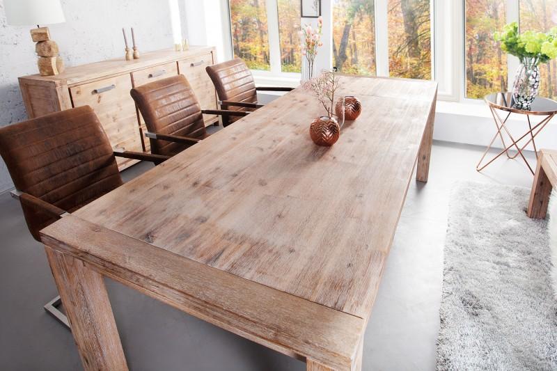 Jedálenský stôl Montreal 180-230cm white wash