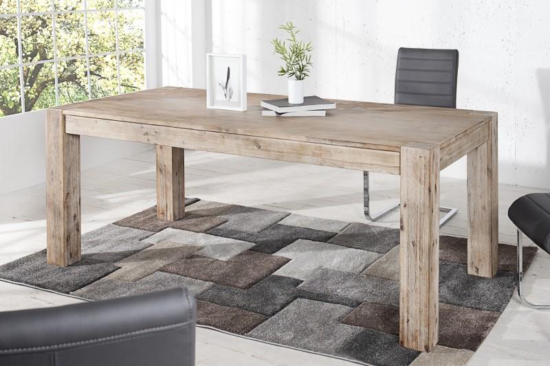 Jedálenský stôl Montreal 200cm Teak šedý vápnené
