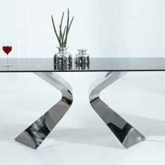 Jedálenský stôl Neo Barock 180cm čierna strieborná