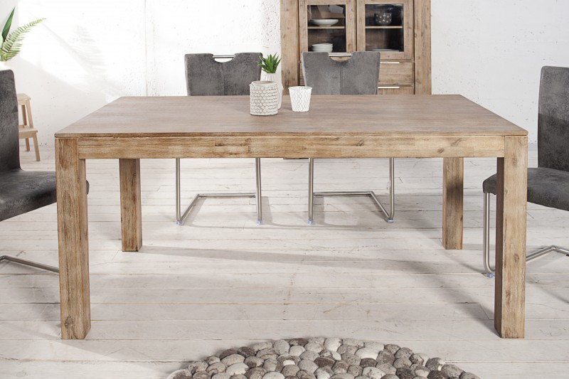 Jedálenský stôl Pure 160-240cm agát Teak šedý