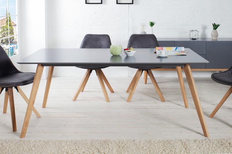 Jedálenský stôl Scandinavia 160cm grafit
