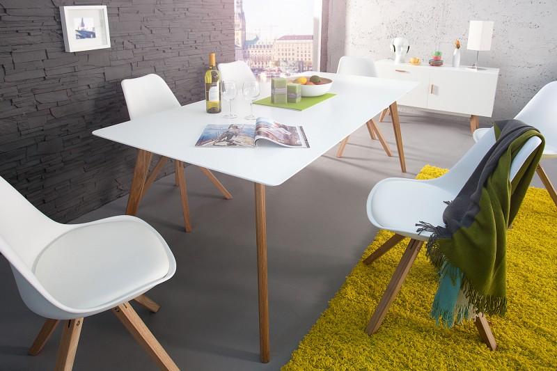 Jedálenský stôl Scania  160cm biela