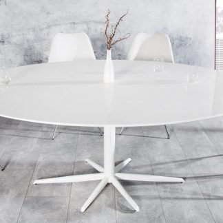 Jedálenský stôl Signum 170cm oval biela