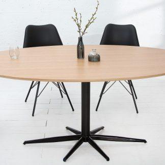 Jedálenský stôl Signum 170cm oval dub čierna