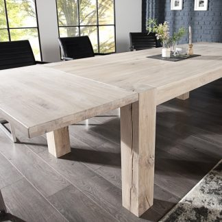 Jedálenský stôl Wild Oak 160-240cm biela olejované